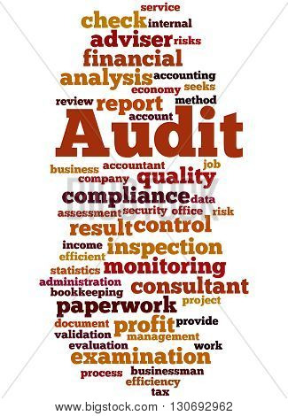 Audit, Word Cloud Concept