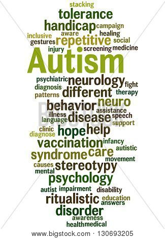 Autism, Word Cloud Concept 5