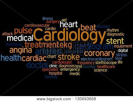 Cardiology, Word Cloud Concept 3