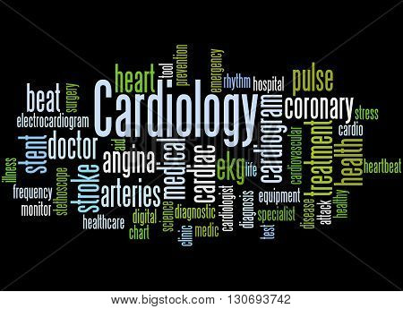 Cardiology, Word Cloud Concept 5