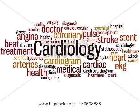 Cardiology, Word Cloud Concept 9
