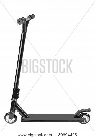 metal scooter isolated on a white background