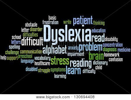 Dyslexia, Word Cloud Concept 9