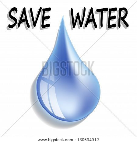 An illustration of a drop of water as a symbol of life.