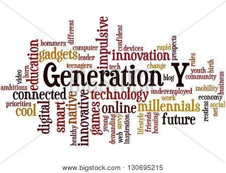 Generation Y, Word Cloud Concept 9