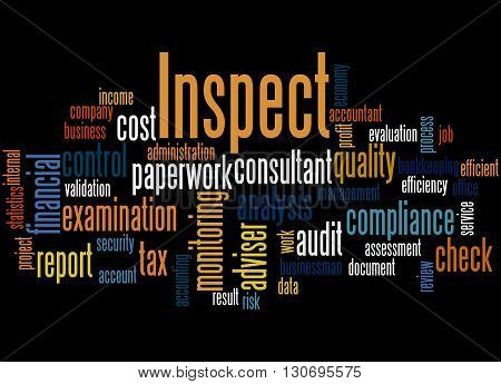 Inspect, Word Cloud Concept
