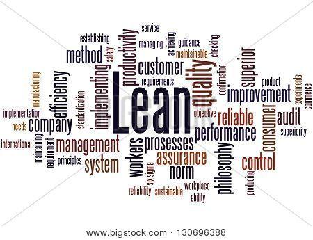 Lean - Management Approach, Word Cloud Concept 8