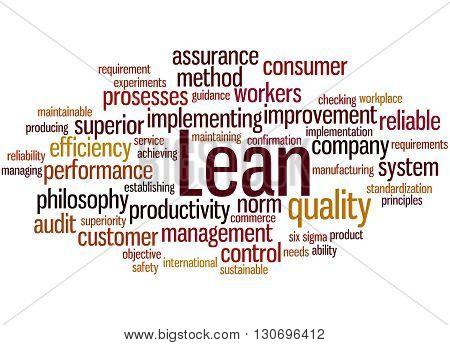 Lean - Management Approach, Word Cloud Concept 9