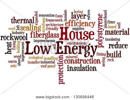 Low Energy House, Word Cloud Concept 2