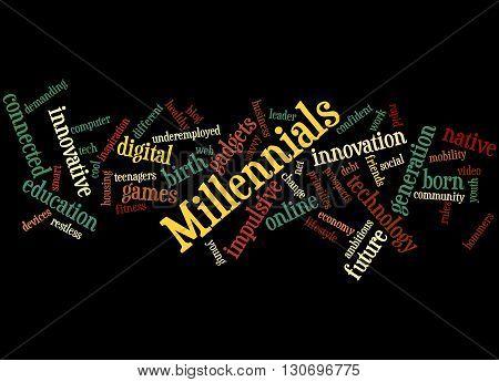 Millennials, Word Cloud Concept 6