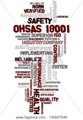 Ohsas 18001 - Health And Safety, Word Cloud Concept 2