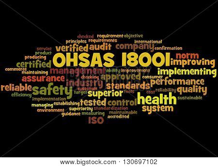 Ohsas 18001 - Health And Safety, Word Cloud Concept 8