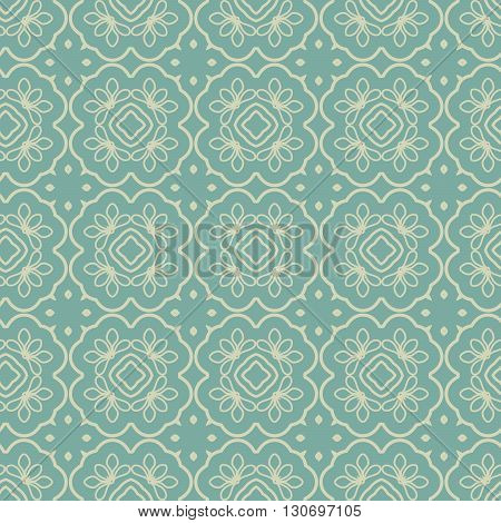 Seamless Floral Ethnic Pattern. Vintage Vector Ornament.  Celtic, Arabic Or Indian Motifs Background. Seamless Wallpaper For Fabric Or Wrapping Paper Design.