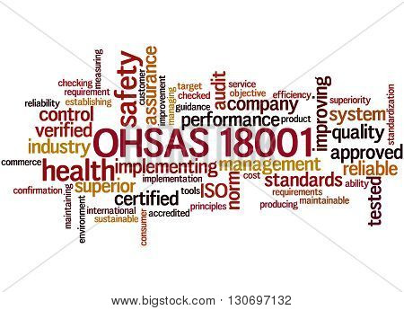 Ohsas 18001 -health And Safety, Word Cloud Concept