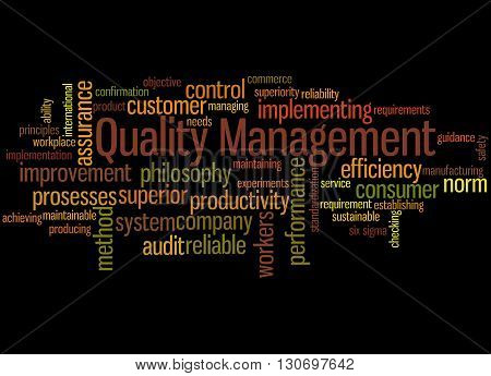 Quality Management, Word Cloud Concept 7