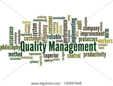 Quality Management, Word Cloud Concept 8