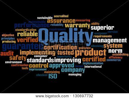 Quality, Word Cloud Concept 6