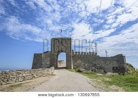 Remains of the stone fortress on cape Kaliakra, Bulgaria.