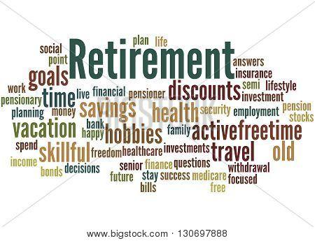 Retirement, Word Cloud Concept 8