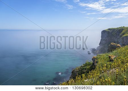 Cape Kaliakra, Bulgaria. Rocky coast of Cape with sea views.