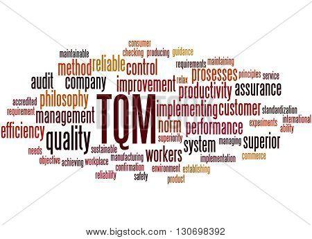 Tqm - Total Quality Management, Word Cloud Concept