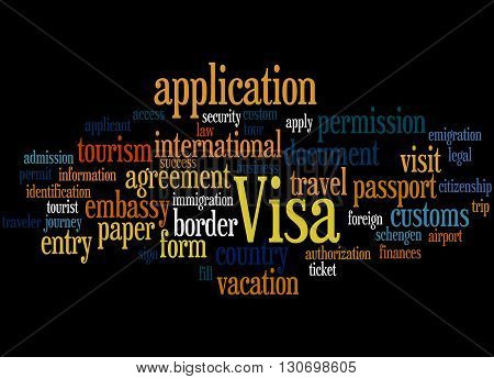 Visa Application, Word Cloud Concept 3