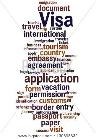 Visa Application, Word Cloud Concept 5