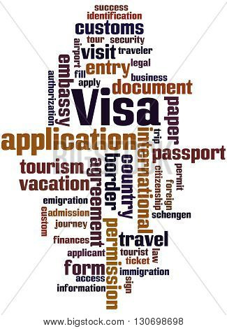 Visa Application, Word Cloud Concept 8