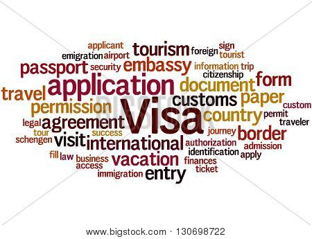 Visa Application, Word Cloud Concept 9