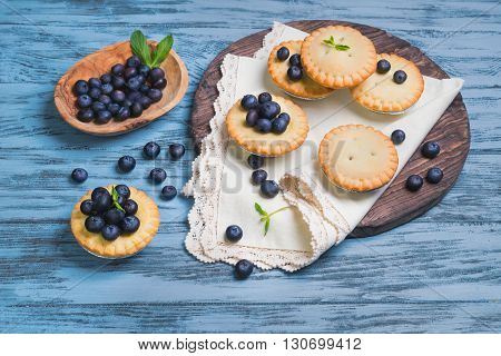Closed Berry Tartlets Baskets Cake With Berries