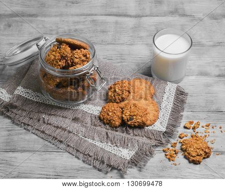 Oat Cookies Food Photo