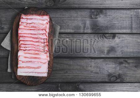 Fresh Cold Sliced Bacon