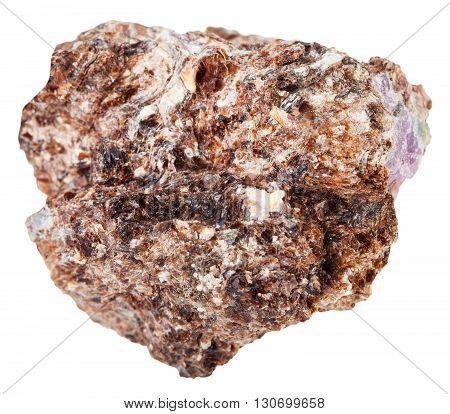Phlogopite (magnesium Mica) With Corundum Crystal