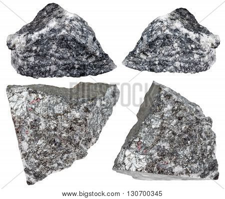 Stibnite (antimonite, Antimony Ore) Rocks Isolated