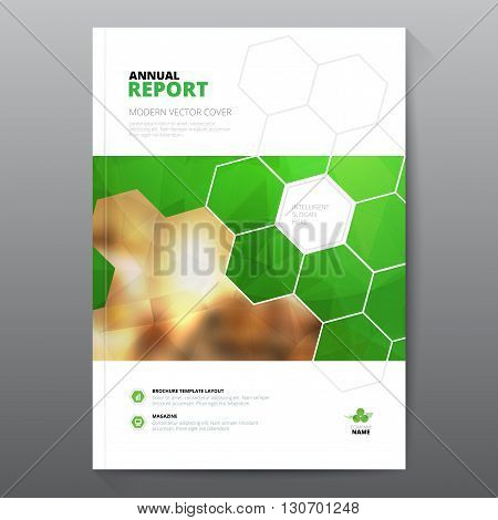 Green annual report Leaflet Brochure Flyer template A4 size design, book cover layout design, Abstract blue presentation templates