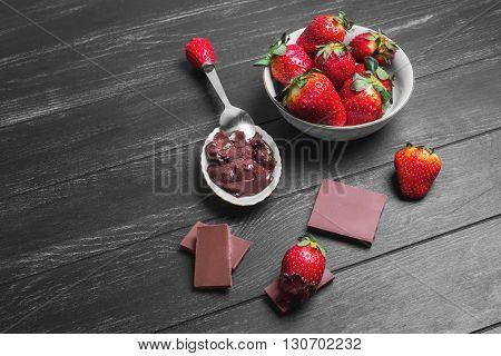 Strawberries In Chocolate