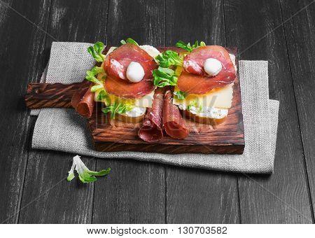 Two Sandwiches Bruschetta