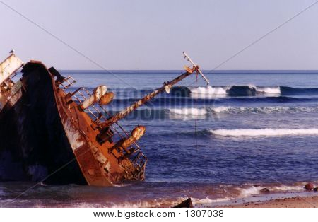 ship wreck on the atlantic coast.