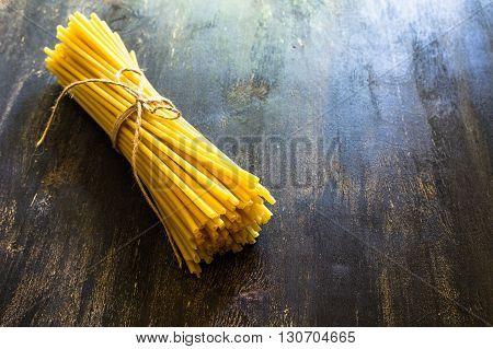 Uncooked Pasta Spaghetti