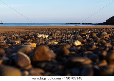 Pebbles On The Seafront At Bude, Cornwall