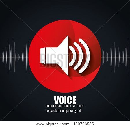 voice messages design, vector illustration eps10 graphic