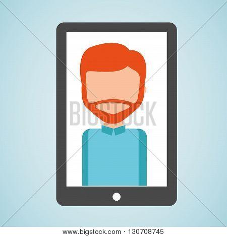 user smartphone  design, vector illustration eps10 graphic