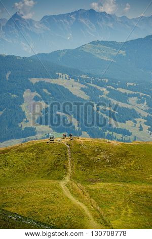 Alps, mountain, rock, mountain, summer, sun, grass, walking paths in the mountains, climb a mountain