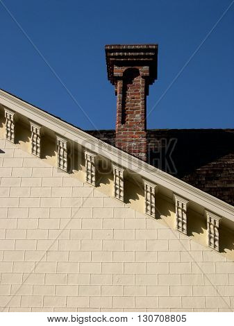 a picture of an exterior 19th century Victoria era chimney