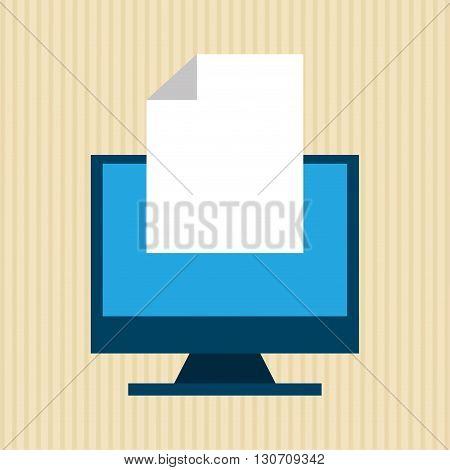 monitor computer design, vector illustration eps10 graphic
