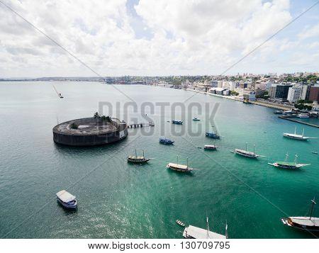 Sao Marcos Fort and Harbour of Salvador, Bahia, Brazil