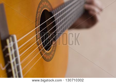 Musician Playing Guitar