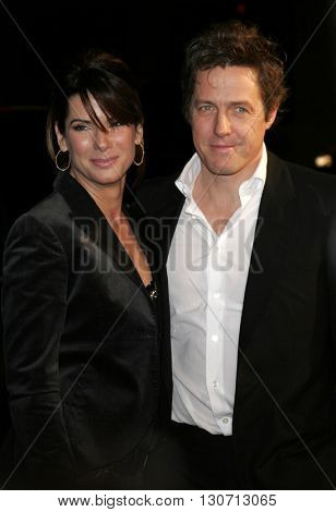 Sandra Bullock and Hugh Grant at the Los Angeles premiere of 'Music and Lyrics' held at the Grauman's Chinese Theater in Hollywood, USA on February 7, 2006.