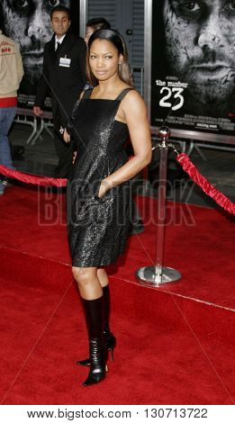 Garcelle Beauvais at the Los Angeles premiere of 'The Number 23' held at the Orpheum Theater in Los Angeles, USA on February 13, 2007.