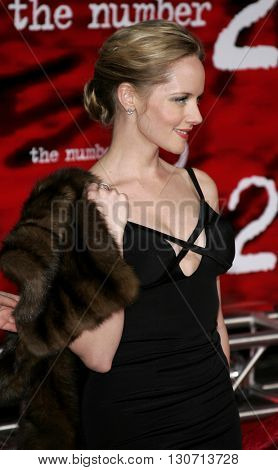 Marley Shelton at the Los Angeles premiere of 'The Number 23' held at the Orpheum Theater in Los Angeles, USA on February 13, 2007.